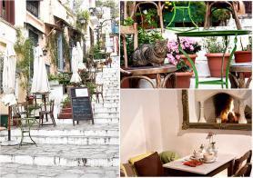 Jedna z kaváren v Athénách