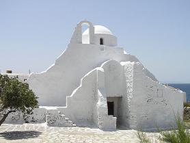 Kostel Paraportianí na Mykonosu