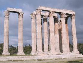 Athény - antický chrám Olympeion