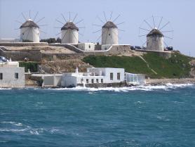 Symbol ostrova Mykonos - mlýny Kato Mili