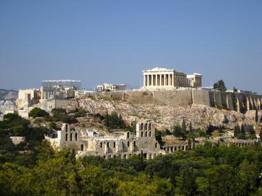 Akropolis A Poničení Patronka Města Muzeum A Cesta