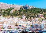 Ostrov Kalymnos a jedno z městeček